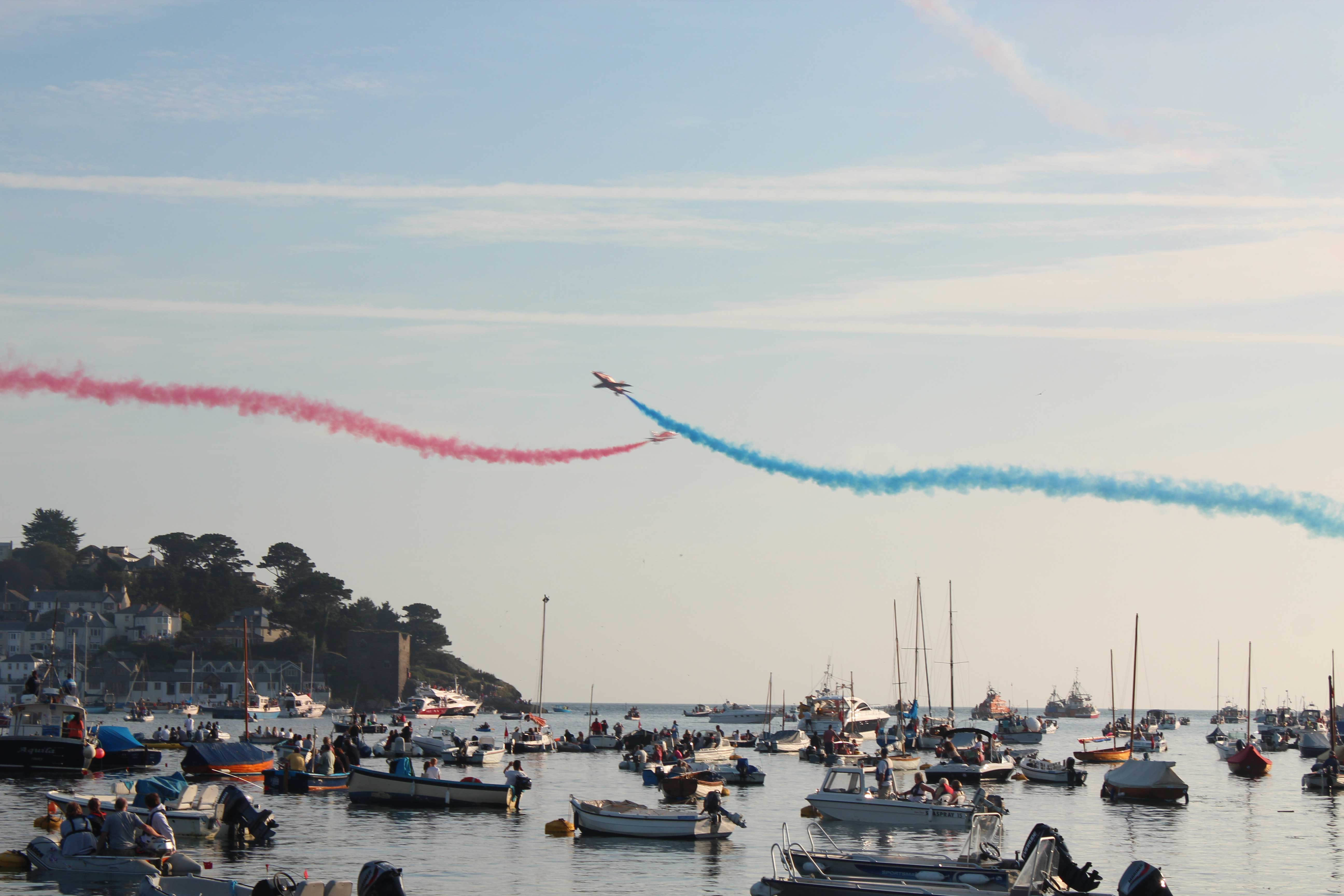 red arrows at fowey