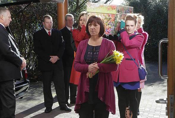 Hayleys funeral coronation street