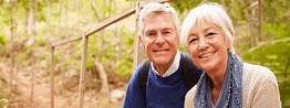over 50s couple by stream